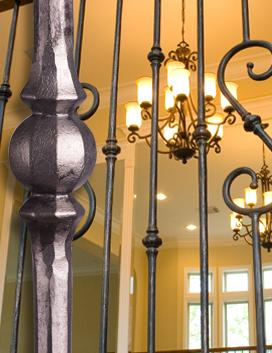 Tuscan Round Hammered Iron Balusters