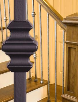 Versatile Contemporary - Solid Iron Balusters