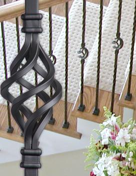 Twist & Basket Hollow Iron Balusters
