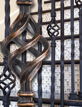 Twist & Basket - Solid Iron Balusters