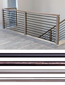 Horizontal Bars Iron Balusters