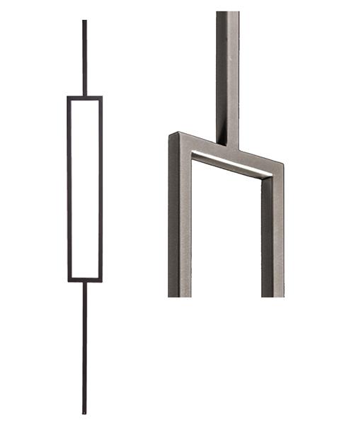16.6.3 Single Rectangle Modern Iron Baluster