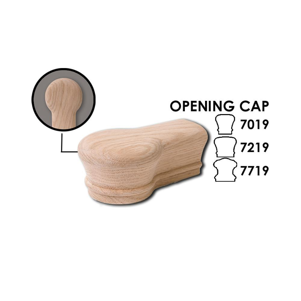 7019 Opening Cap Wood Handrail Fitting