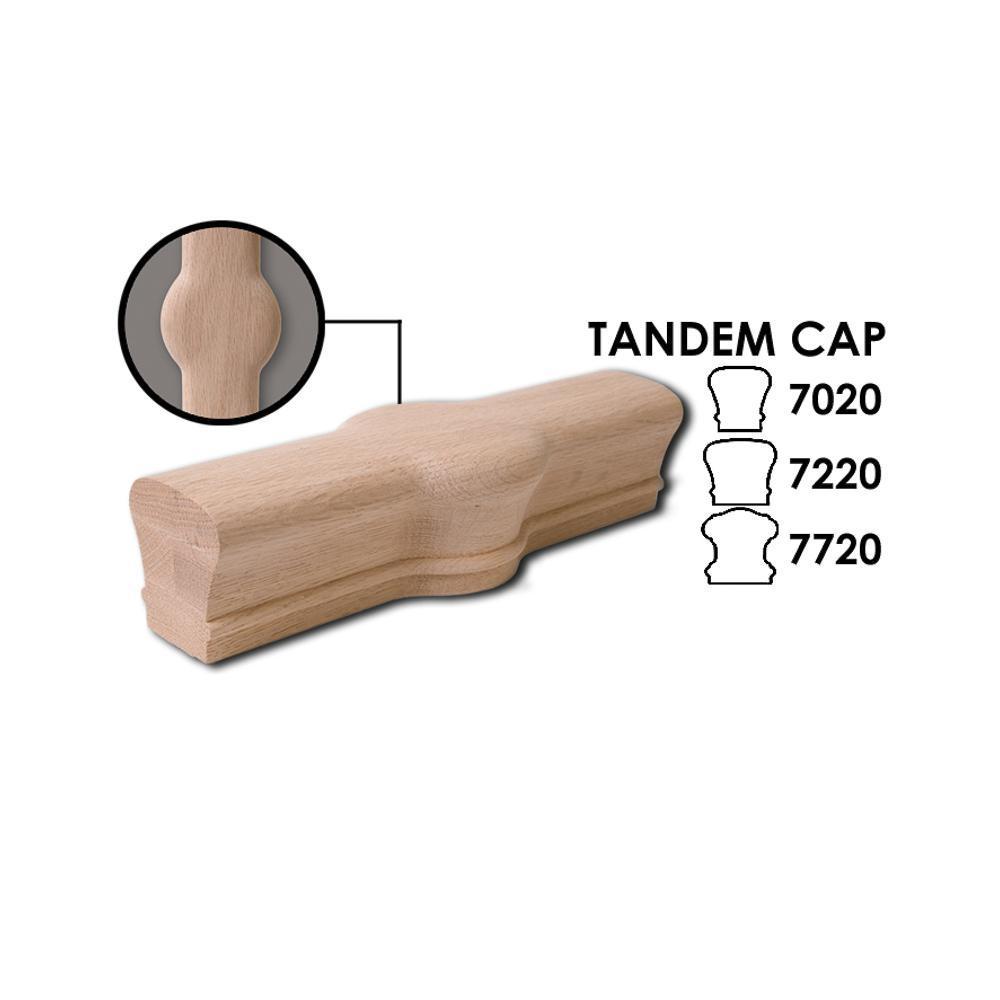 7020 Tandem Cap Wood Handrail Fitting