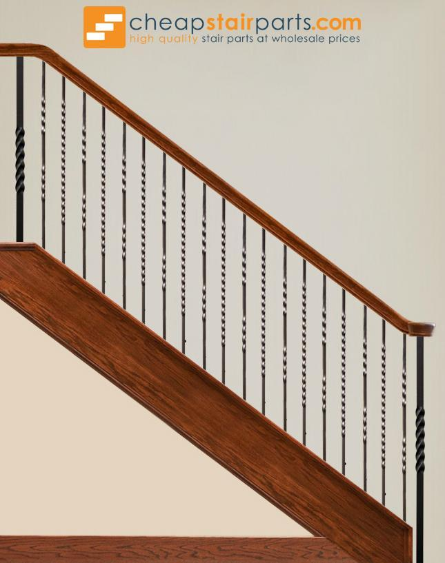 17 best images about classic stairs balusters and newels.htm 16 1 2 t double twist hollow iron baluster cheap stair parts  double twist hollow iron baluster