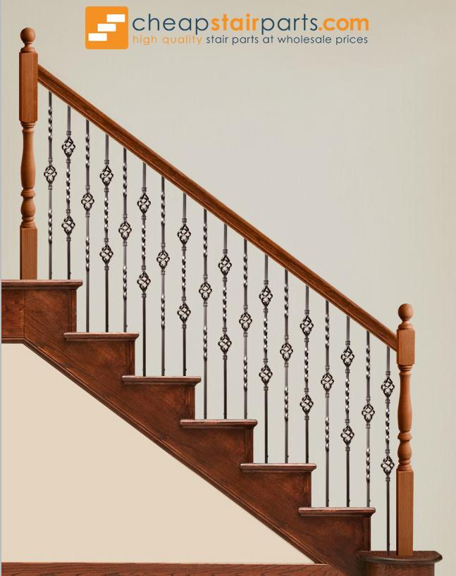 Creative Stair Parts Iron Double Basket Baluster Oil Rubbed Bronze 44-in Model# Z48144IRON
