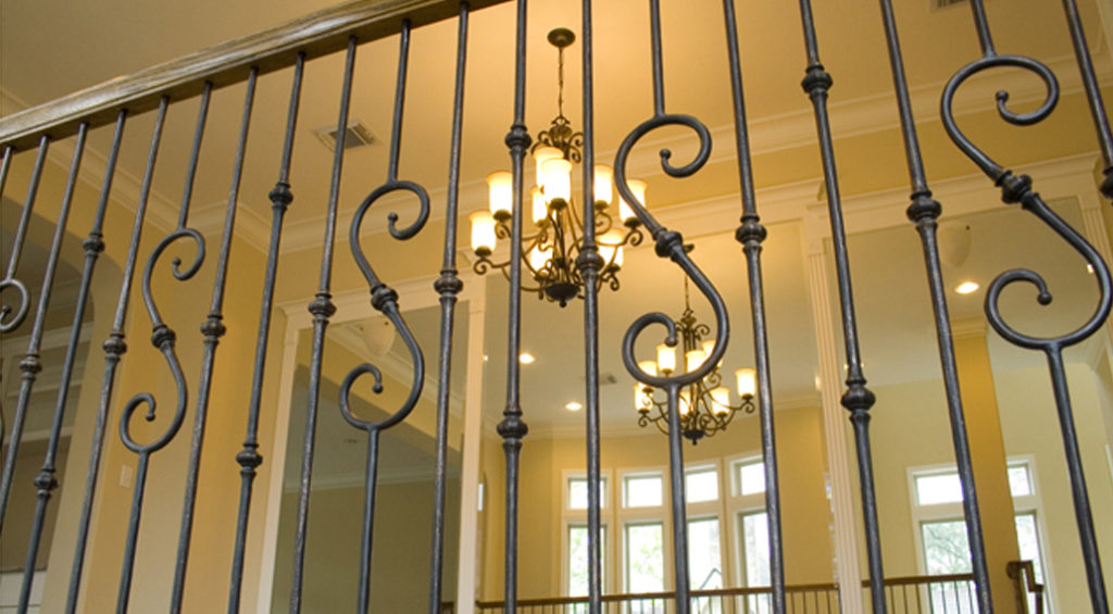 Tuscan Round Hammered Solid Iron Balusters