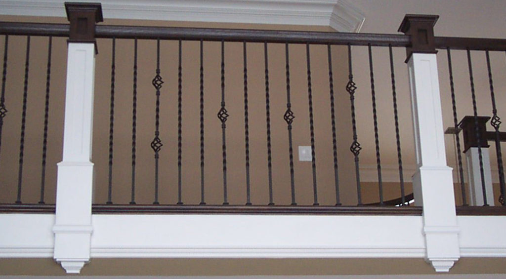 Twist and Basket Solid Iron Balusters